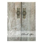 Double Barn Doors Country Thank You Notes Personalized Announcements