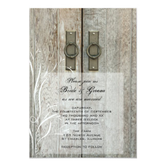 Double Barn Doors Country Wedding 13 Cm X 18 Cm Invitation Card
