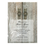Double Barn Doors Country Wedding Invitation