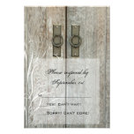 Double Barn Doors Country Wedding Response Card Announcement