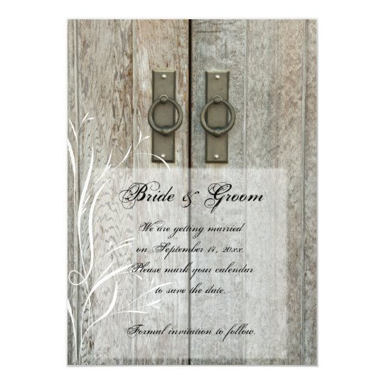 Double Barn Doors Country Wedding Save the Date