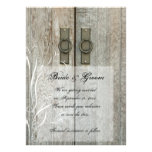 Double Barn Doors Country Wedding Save the Date Custom Announcement