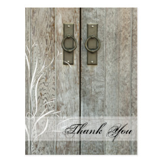 Double Barn Doors Country Wedding Thank You Post Cards