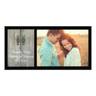 Double Barn Doors Farm Wedding Save the Date Card