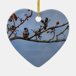 Double-barred finch ornament