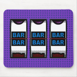 Double Bars Slot Machine Reels Mouse Pad