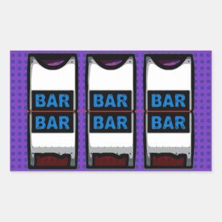 Double Bars Slot Machine Reels Rectangular Sticker