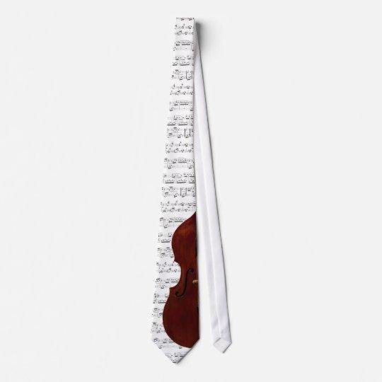 Double Bass Music Tie -Pick your colour.