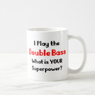 Double bass player coffee mug