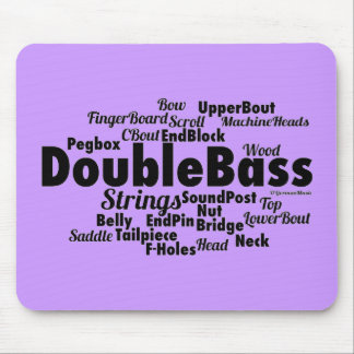 Double Bass Word Cloud Mouse Pad