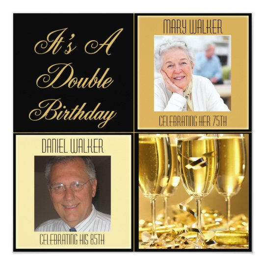 Double Birthday Party Invitation for Any Age