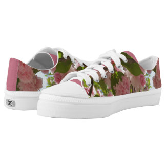 Double Blossoming Cherry Tree III Spring Floral Low Tops
