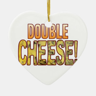 Double Blue Cheese Ceramic Heart Decoration