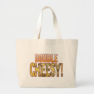 Double Blue Cheesy Large Tote Bag