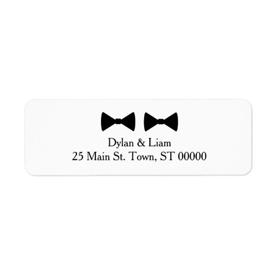 """Double Bow Ties"" Address Label"