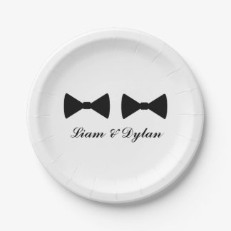 """""""Double Bow Ties"""" Paper Plates"""