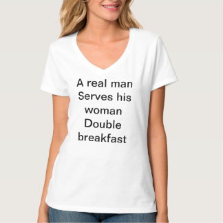 Double breakfast adult t-shirts