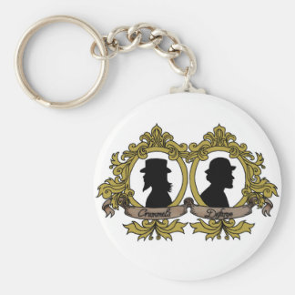 Double Cameo Keychain