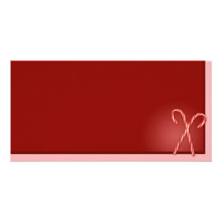 Double Candy Cane Personalised Photo Card