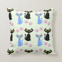 Double Cat Pattern Cushion