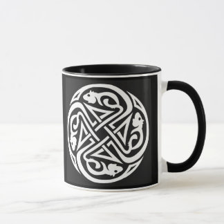 Double Celtic Rat Circle Mug