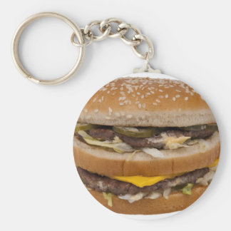 Double Cheese Burger Delite Key Chains