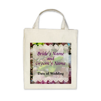 Double Cherry Blossoms Wedding Favors Tote Bags