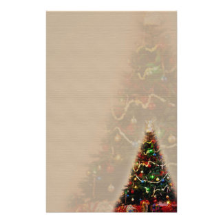 DOUBLE CHRISTMAS TREE DESIGN STATIONERY