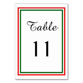 Double Christmas Trim - Table Card