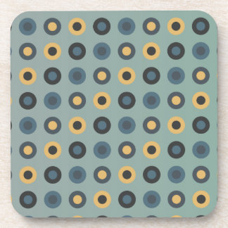 double circles masculine mustard drink coaster