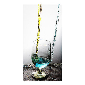 Double Cocktail Pour 2 Photo Greeting Card