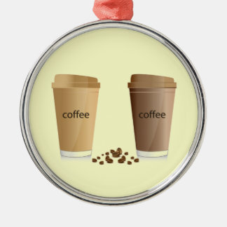 DOUBLE COFFEES CREAM SUGAR HONEY  BEVERAGES HOT WA CHRISTMAS ORNAMENT