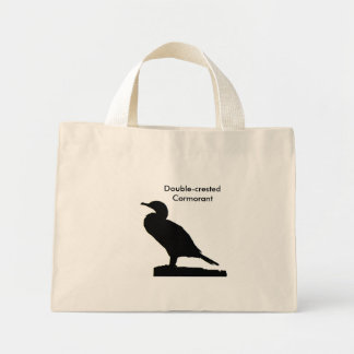 Double-crested Cormorant silhouette Bag