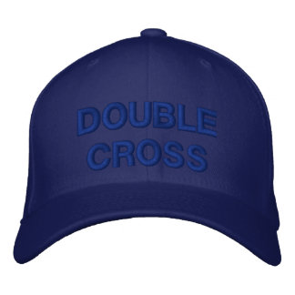 DOUBLE CROSS EMBROIDERED CAP