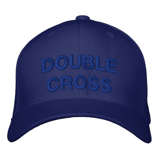 DOUBLE CROSS EMBROIDERED BASEBALL CAPS