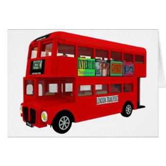 Double-decker bus card