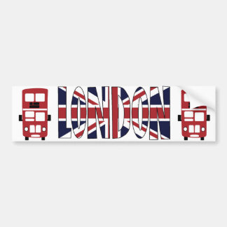 Double decker bus LONDON bumper sticker