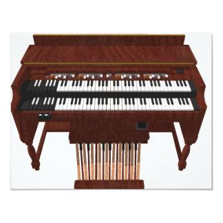 Double Decker Organ: 3D Model: 11 Cm X 14 Cm Invitation Card