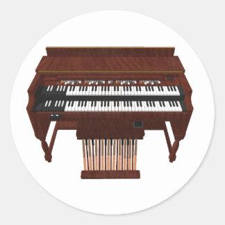 Double Decker Organ: 3D Model: Classic Round Sticker