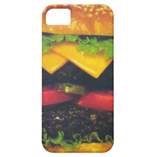 Double Deluxe Hamburger with Cheese iPhone 5 Case