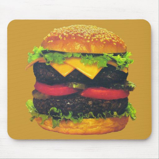 Double Deluxe Hamburger with Cheese Mousepads