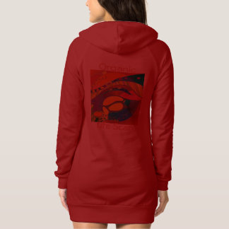 Double Design Red Hoodie Dress Lily / Organic