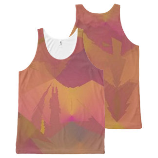 Double Design Tank Top Purple Gold Sunset / Arrow