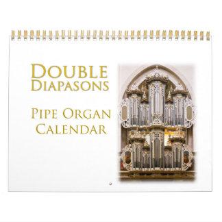 Double Diapasons organ calendar