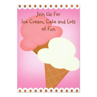 Double Dip Ice Cream Birthday Invitation