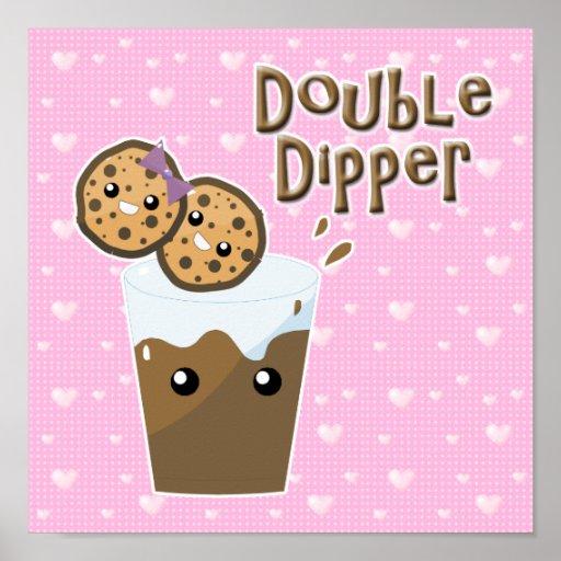 Double Dipper Cookies N Milk Poster