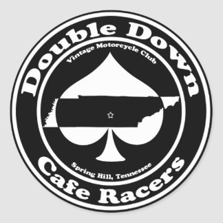 Double Down Cafe Racers Sticker