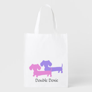 Double Doxie Dachshund Tote Bag