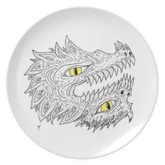 Double Dragon Dinner Plates