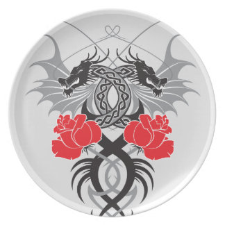 Double Dragon Party Plates
